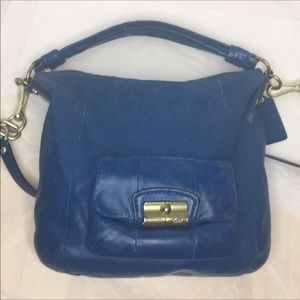 Coach Bags - Coach Kirsten  in  blue leather